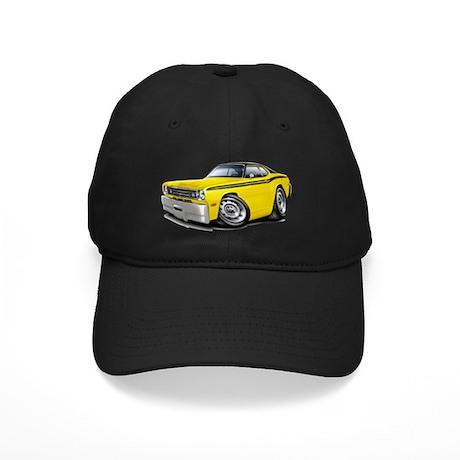 1970-74 Duster Yellow-Black Top Car Black Cap