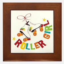 Roller Skate Girl Framed Tile