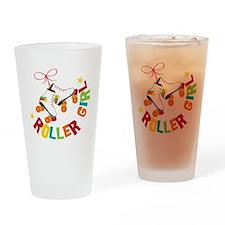 Roller Skate Girl Drinking Glass