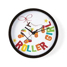 Roller Skate Girl Wall Clock