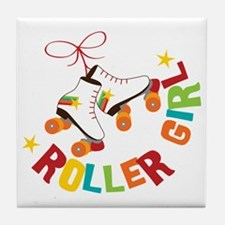 Roller Skate Girl Tile Coaster