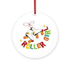 Roller Skate Girl Round Ornament