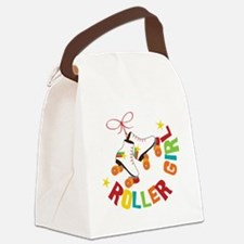 Roller Skate Girl Canvas Lunch Bag