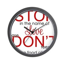 stop in the name of love png Wall Clock