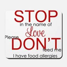stop in the name of love png Mousepad