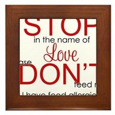 stop in the name of love png Framed Tile