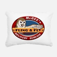 Fling  Fly Logo Rectangular Canvas Pillow