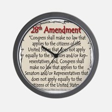28thAmend Wall Clock