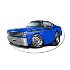 1970-74 Duster Blue-Black To Wall Decal