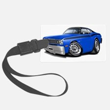 1970-74 Duster Blue-Black Top Ca Luggage Tag