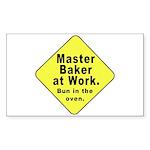 Master Baker - Bun in the Oven Sticker (Rectangula
