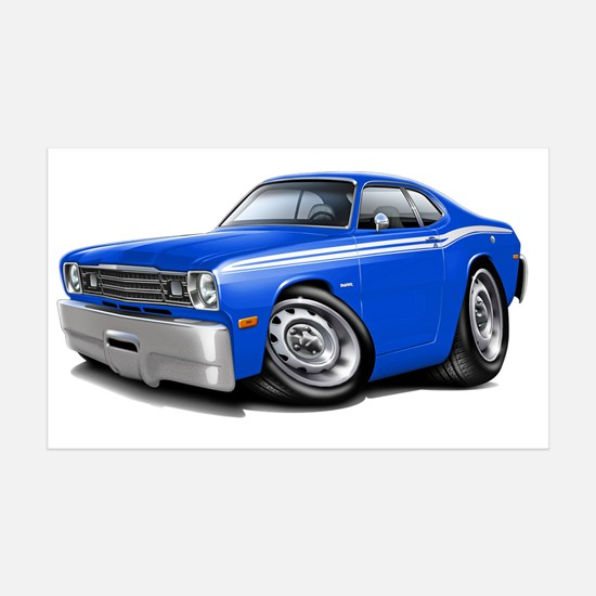 1970-74 Duster Blue-White Car Wall Decal