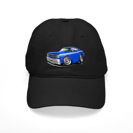 1970-74 Duster Blue-White Car Black Cap