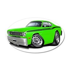 1970-74 Duster Lime-Black Ca Wall Decal