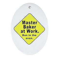 Master Baker - Bun in the Oven Oval Ornament