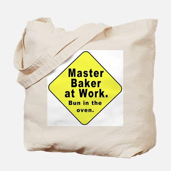 Master Baker-Bun in Oven (2-Sided) Tote Bag