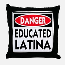 DANGER EDUCATED -- T-Shirt Throw Pillow