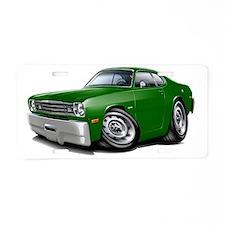 1970-74 Duster Green Car Aluminum License Plate