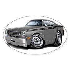 1970-74 Duster Grey-Black Car Decal