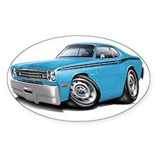1970-74 Duster Lt Blue-Black Car Decal