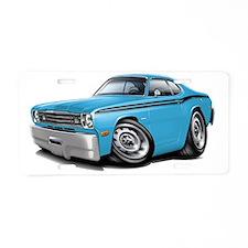 1970-74 Duster Lt Blue-Blac Aluminum License Plate