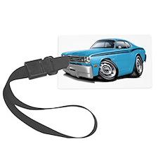 1970-74 Duster Lt Blue-Black Car Luggage Tag