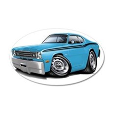 1970-74 Duster Lt Blue-Black Wall Decal