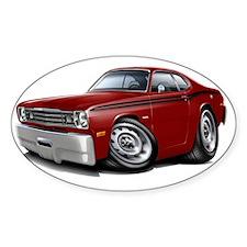 1970-74 Duster Maroon-Black Car Decal