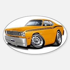 1970-74 Duster Orange Black Car Decal