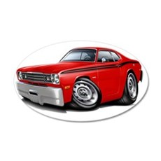1970-74 Duster Red-Black Car Wall Decal