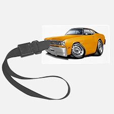 1970-74 Duster Orange Black Top  Luggage Tag