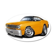 1970-74 Duster Orange Black  Wall Decal