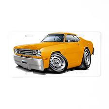 1970-74 Duster Orange Car Aluminum License Plate