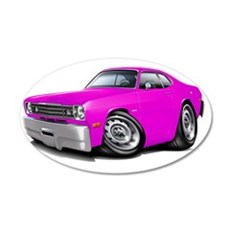 1970-74 Duster Pink Car Wall Decal