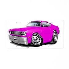 1970-74 Duster Pink Car Aluminum License Plate