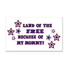 2-land of the free mommy Rectangle Car Magnet