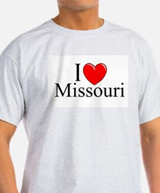 """I Love Missouri"" Ash Grey T-Shirt"