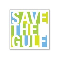 "savegulf-01 Square Sticker 3"" x 3"""