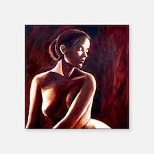"nude backlit squ Square Sticker 3"" x 3"""