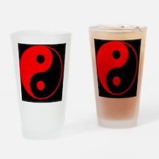 2-yinYang2RedCap Drinking Glass