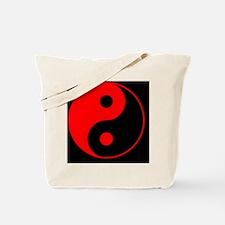 2-yinYang2RedCap Tote Bag