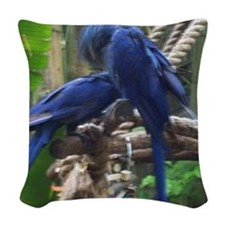 blue love2~4 Woven Throw Pillow