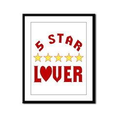5 Star Lover Framed Panel Print