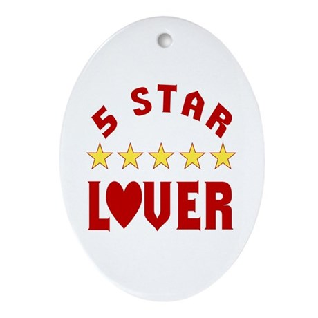 5 Star Lover Oval Ornament