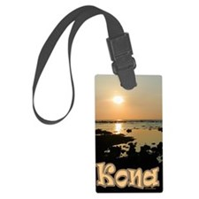 KonaSunsetGold Luggage Tag