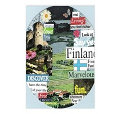 finlandblue5x8reg Postcards (Package of 8)