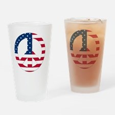 Peace Sign Symbol USA Flag Drinking Glass