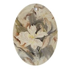 Flowers2 Oval Ornament