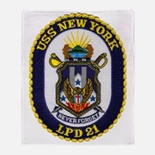 new york patch transparent Throw Blanket