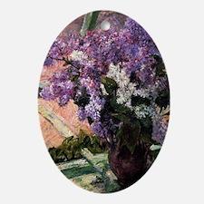 Lilacs Oval Ornament